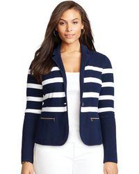 Lauren by Ralph Lauren - Striped Cotton Blazer - Lyst