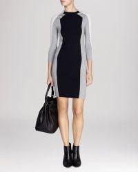Karen Millen Dress - Mesh Color Block Knit Sweater - Lyst