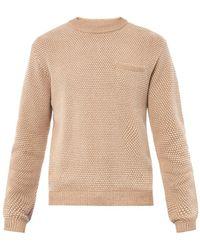 Patrik Ervell - Seedstitch Knitted Cotton Sweater - Lyst