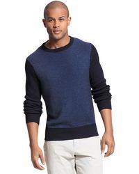 Tommy Hilfiger Textured Crew Neck Sweater - Lyst