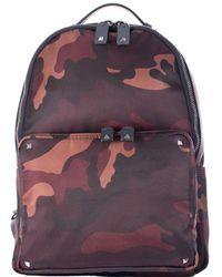 Valentino Nylon Bordeaux Camouflage Backpack purple - Lyst