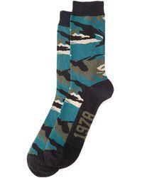 Diesel Camouflage Print Crew Socks - Lyst
