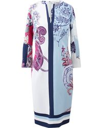 Etro Fitted Print Dress - Lyst