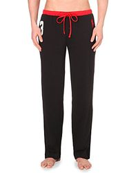 Pink Pony - Logo-embroidered Cotton-jersey Pyjama Bottoms - Lyst