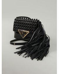 Sara Battaglia Teresa Studded Shoulder Bag - Lyst
