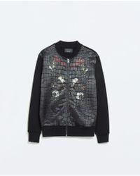 Zara Satin Jacket - Lyst