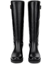 MM6 by Maison Martin Margiela Rubber And Coated-Leather Boots - Lyst