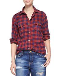 Current/Elliott The Perfect Plaid Shirt - Lyst
