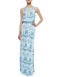 Parker Moriah Printed Cutout Maxi Dress - Lyst