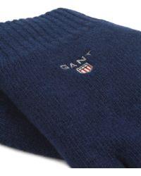 GANT - Fleece Lined Gloves - Lyst