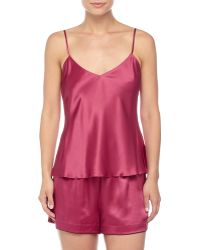 Neiman Marcus - Solid Silk Lounge Tank - Lyst