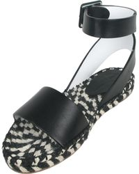 Proenza Schouler Leather And Rope Sandals - Lyst