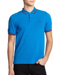 Fred Perry Twin Tipped Cotton Polo - Lyst