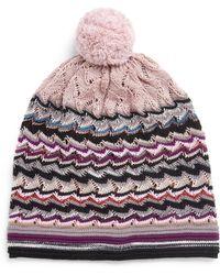 Missoni Chevron Knit Pom-Pom Hat - Lyst