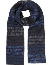 Roberto Cavalli - Signature Woven Wool Blend Men's Scarf - Lyst