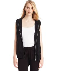 Kenneth Cole Megan Hooded Sweatshirt Vest - Lyst