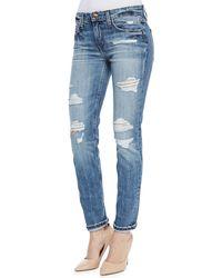 Joe's Jeans Gessa Slouched Slim Leg Distressed Jeans - Lyst