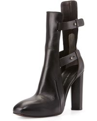 CoSTUME NATIONAL - Strappy Platform Ankle Boot - Lyst
