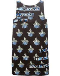 Fendi Orchid Print Dress - Lyst