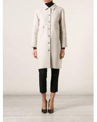Versace Beige Classic Coat - Lyst