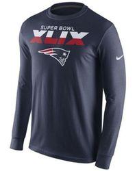 Nike Men'S Long-Sleeve New England Patriots Super Bowl Xlix T-Shirt - Lyst