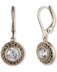 Judith Jack - 14k Gold And Swarovski Crystal Drop Earrings - Lyst