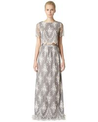 Erin Fetherston Lavender Lace Maxi Skirt - Lyst
