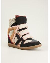 Etoile Isabel Marant Wila Hitop Wedge Sneakers - Lyst