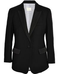 Band Of Outsiders Faille-trimmed Wool-piqué Blazer - Lyst