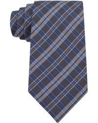 Calvin Klein Midnight Black Wash Denim Slim Tie - Lyst