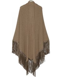 Finds - + Barbajada Leather-Fringed Cashmere Shawl - Lyst