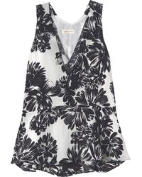 Rebecca Taylor Splash Flower Flippy Tank - Lyst