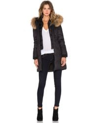 SOIA & KYO - Chrissy Jacket With Asiatic Raccoon Fur Trimmed Hood - Lyst