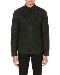 Sandro Waxed-cotton Shirt - Lyst