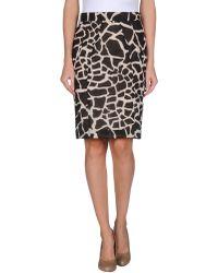Scrupoli Knee Length Skirt - Lyst