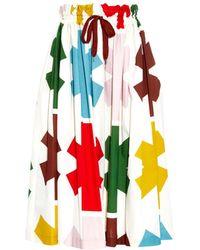 Vivienne Westwood Anglomania Beam Asterisk-Print Skirt multicolor - Lyst