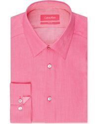Calvin Klein Slimfit Solid Dress Shirt - Lyst