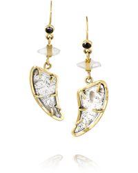 Melissa Joy Manning - 18-karat Gold, Diamond And Sapphire Earrings - Lyst
