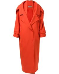 Preen Long Trench Coat - Lyst