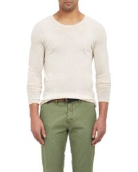 Barneys New York Cashmere Rolled-Edge Sweater - Lyst