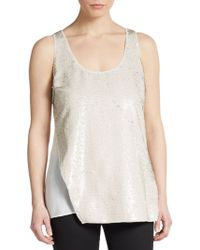 Sachin & Babi Sequined Asymmetrical Overlay Top - Lyst