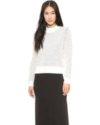 Paul Smith Black Label - Chunky Stitch Jumper - White - Lyst