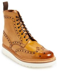 Grenson 'Fred' Wingtip Boot - Lyst