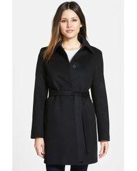 Fleurette - Club Collar Piacenza Wool Blend Coat - Lyst
