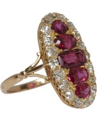 Kojis - 18ct Gold Ruby and Diamond Ring - Lyst