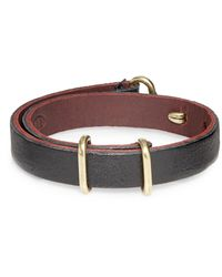 Giles & Brother Leather Cuff Bracelet - Lyst