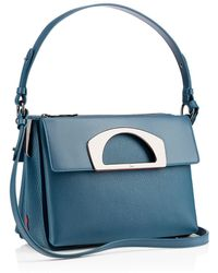 Christian Louboutin Blue Passage Messenger - Lyst