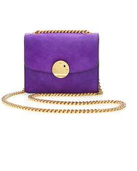 Marc Jacobs Mini Suede Trouble Bag In Violet - Lyst