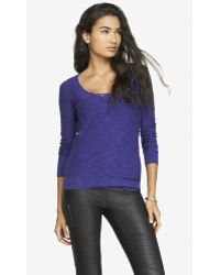 Express Fitted Slub Knit V-Neck Sweater - Lyst