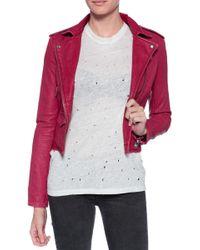 IRO Ashville Jacket pink - Lyst